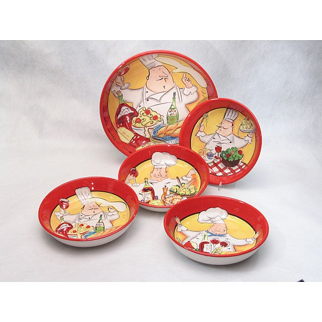 Certified International 'Buon Appetito' 5-piece Pasta Set