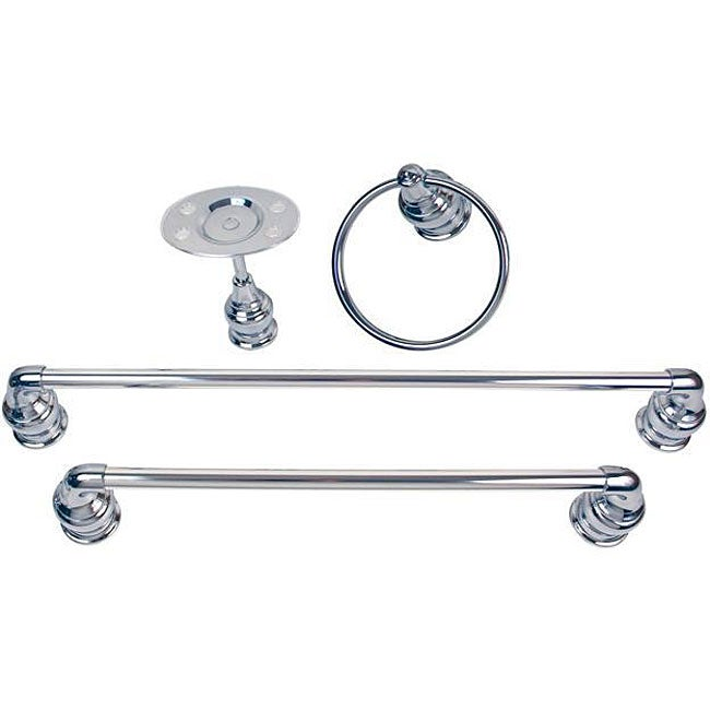 Moen Chrome Four-piece Bath Accessory Kit
