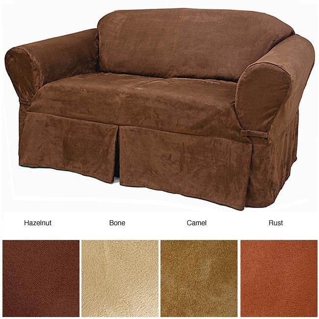 Microsuede Sofa Slipcover Overstock Shopping Big