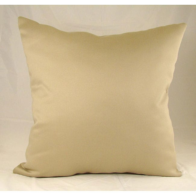 Chino Beige Throw Pillows (Set of 2)