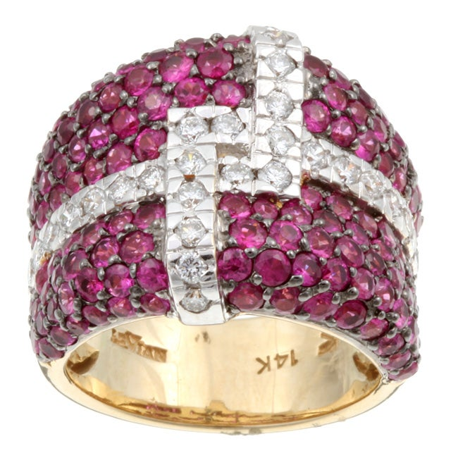 Encore by Le Vian 14k Gold Ruby and 3/4ct TDW Diamond Ring (H-I, SI2)