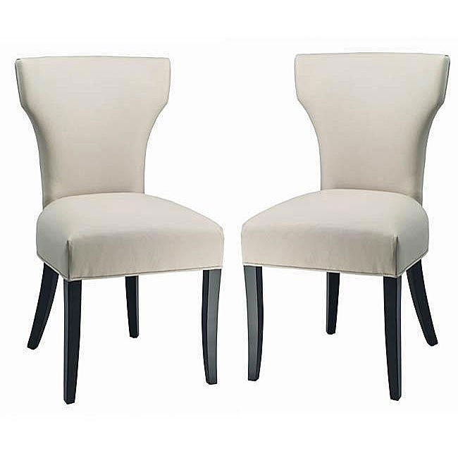 Safavieh Matty Top-grain Off-White Leather Side Chairs (Set of 2)