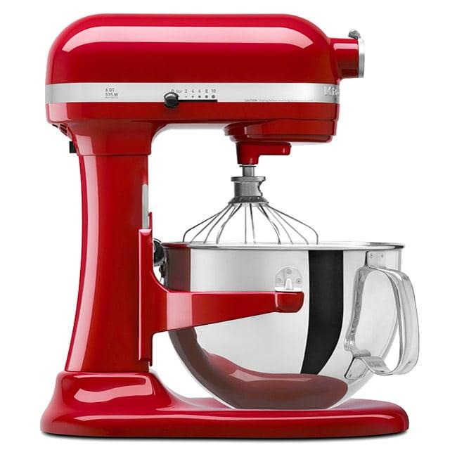 KitchenAid KP26M1XER Empire Red Professional 600 6-quart Stand Mixer