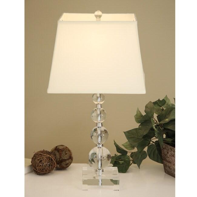 Crystal Circle Table Lamp
