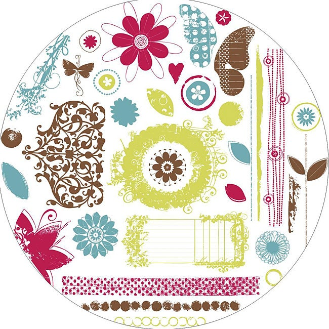 Fancy Pants Delight Clear Acrylic Circle Stamps