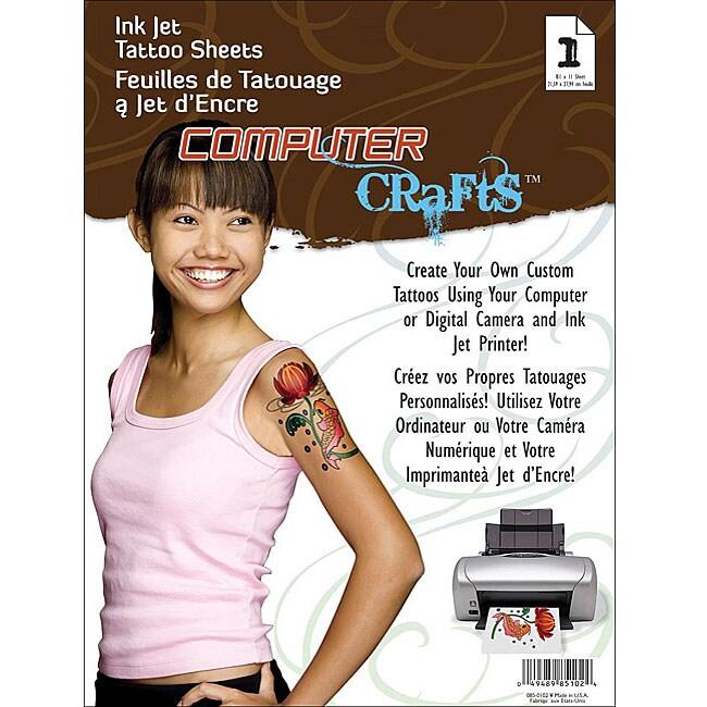 Computer Crafts Inkjet Tattoo Sheet