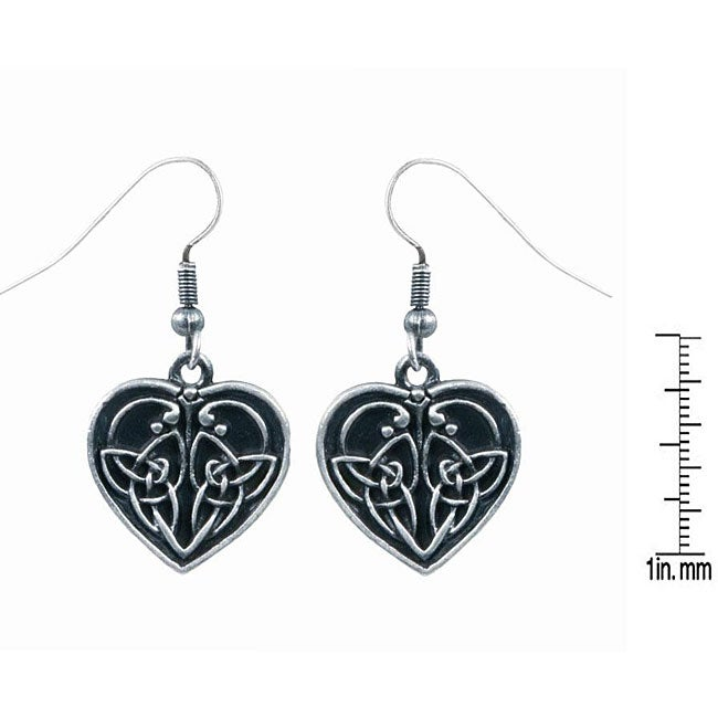 Pewter celtic heart shape love earrings 12266836 for L love jewelry reviews