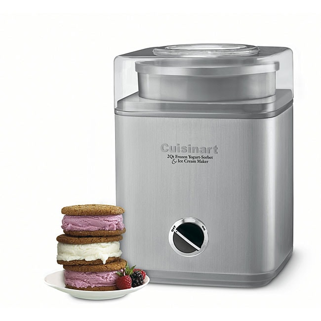 Cuisinart CIM-60PCFR Brushed Chrome Ice Cream Maker (Refurbished)
