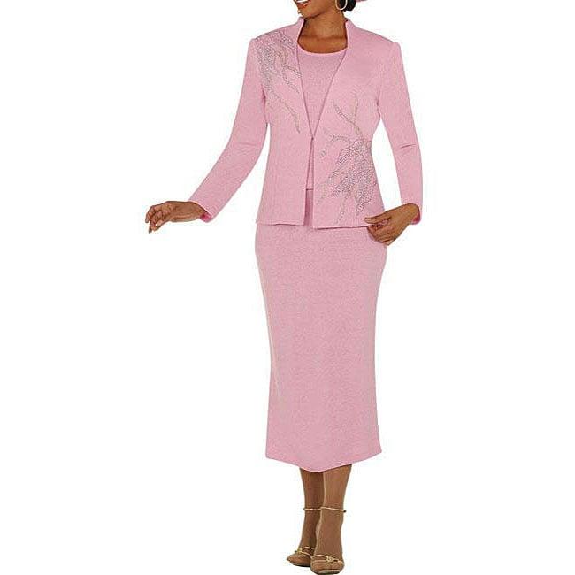 Todd & Olivia Women's Pink Skirt Suit