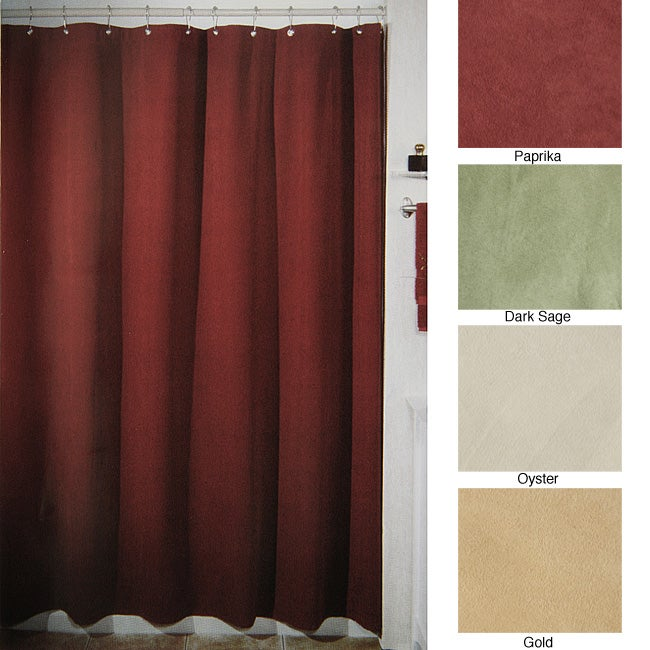 Faux Suede Shower Curtain