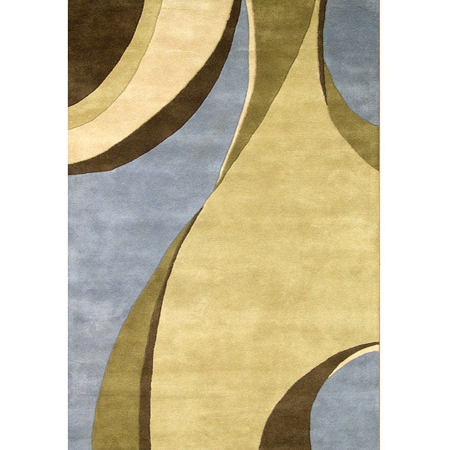 Alliyah Handmade Multi Color New Zealand Blend Wool Rug (8' x 10')