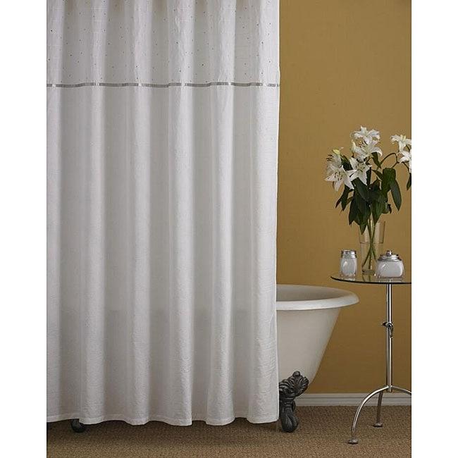Nicole Miller Glitter Shower Curtain - 12278479 - Overstock.com ...