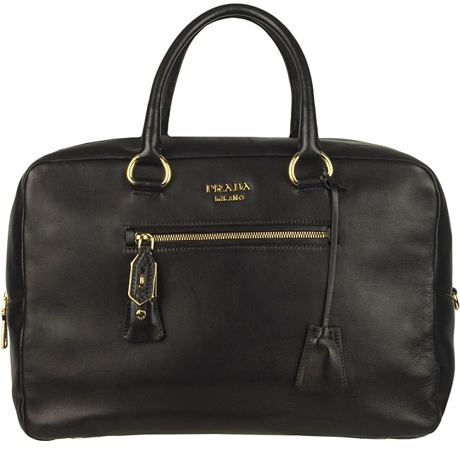Prada Double Zip Bowler Bag - 12280119 - Overstock.com Shopping ...