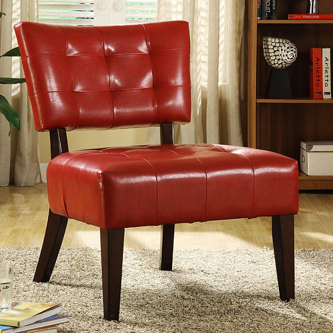 living room furniture accent chair leather armless accent chair