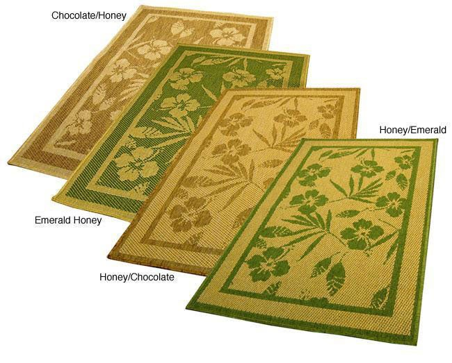 AT HOME by O Hibiscus Indoor/ Outdoor Area Rug (9'6 x 12'9) at Sears.com