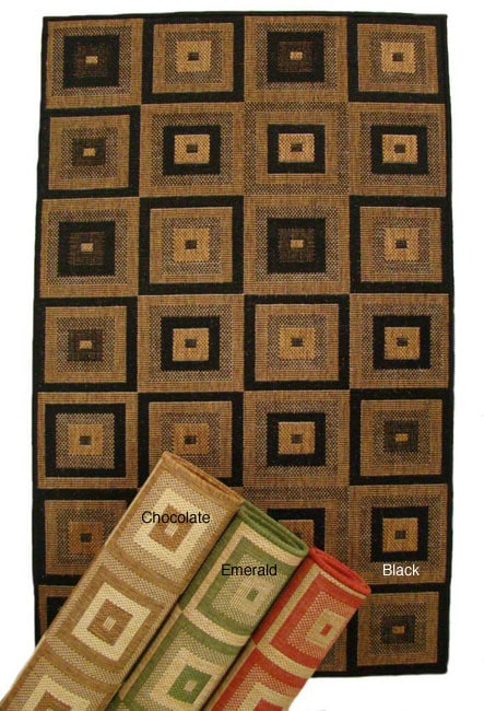 AT HOME by O Indoor/ Outdoor Pyramid Blocks Area Rug (9'6 x 12'9) at Sears.com