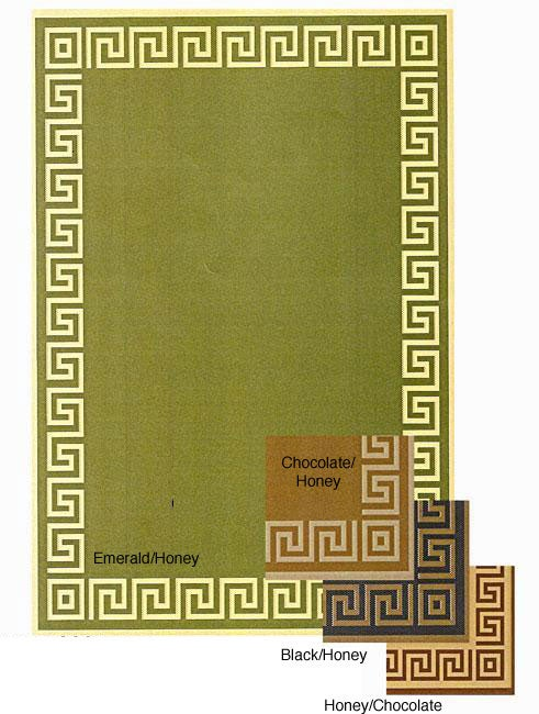 Indoor/ Outdoor Greek Key Area Rug (9'6 x 12'9)