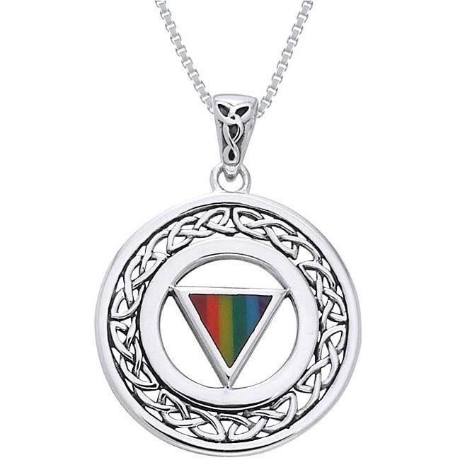 CGC Sterling Silver Pride Celtic Border Necklace