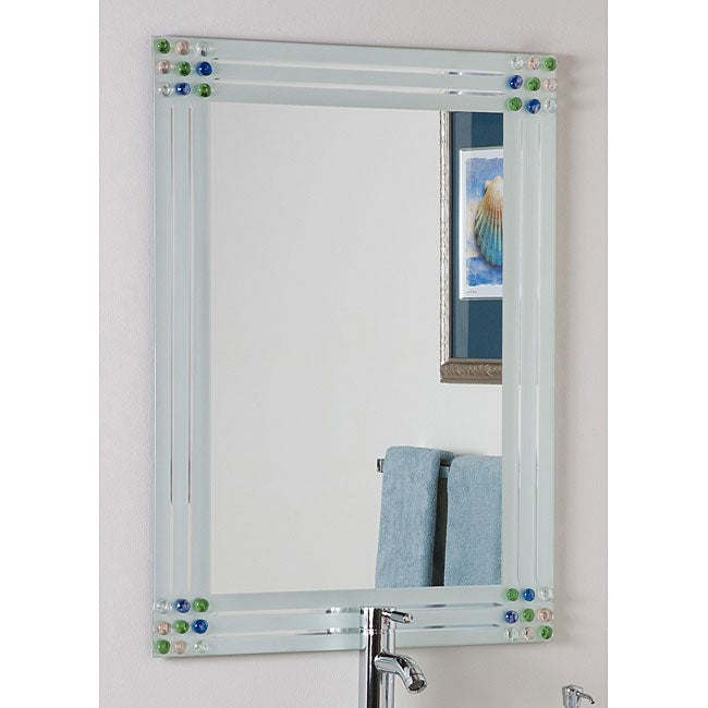 Http Www Overstock Com Home Garden Bejeweled Frameless Bathroom Mirror 4311803 Product Html