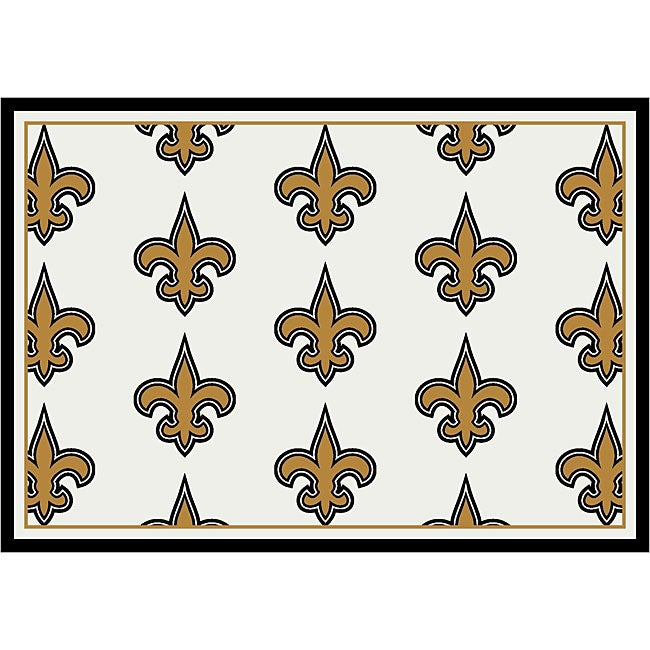 New Orleans Saints Repeat Logo Rug 5 39 4 X 7 39 8 Overstock Shopping Great Deals On 5x8 6x9 Rugs