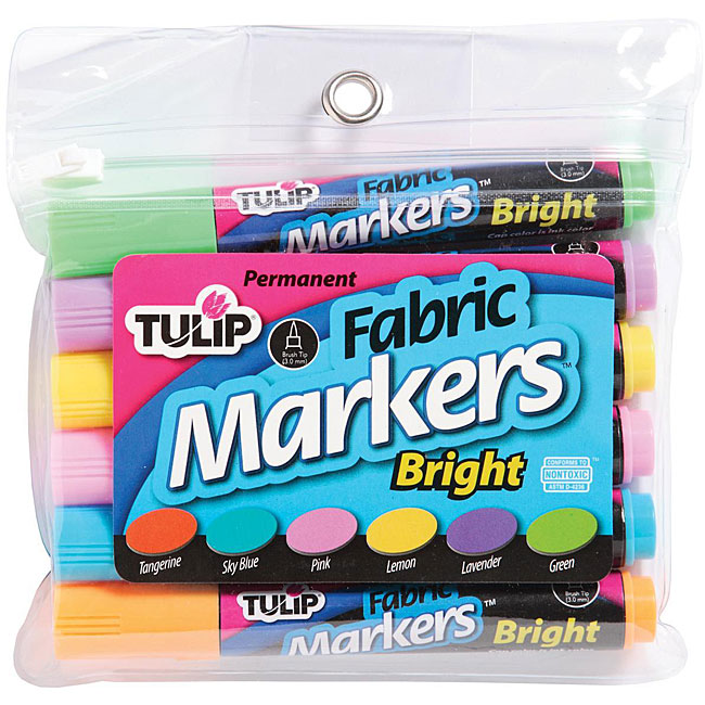 Tulip Fabric Large Bright Markers (Pack of 6)
