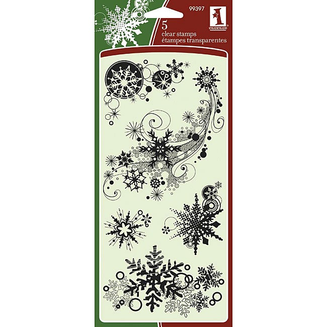 Inkadinkado 'Snowflakes' Clear Seasonal Stamps