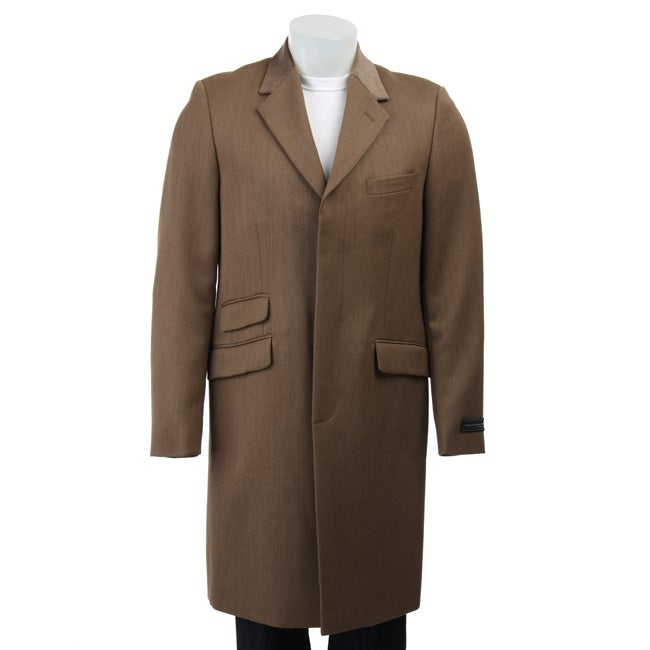 French Connection Men's Tweed Wool Coat