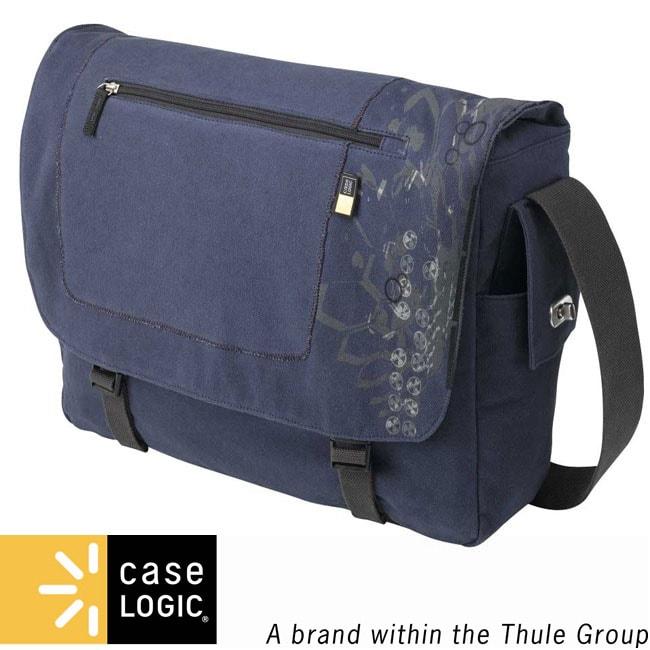 Case Logic 15.4 Inch Blue Canvas Laptop Messenger Bag