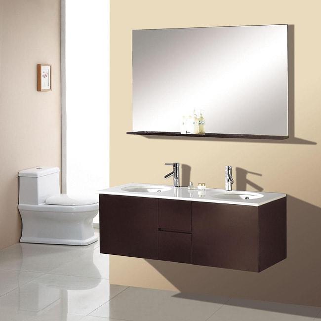 Double Sink 51 Inch Espresso Bathroom Vanity Set 12317862 Shopping Great