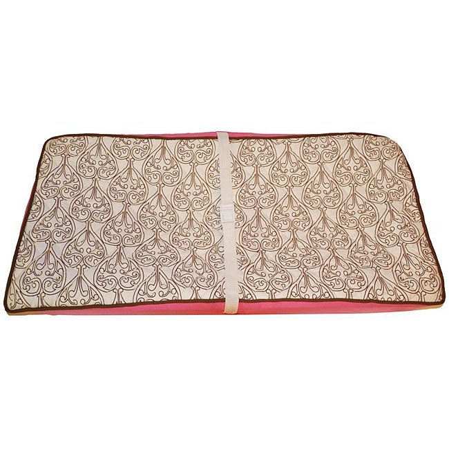 Bacati Damask Pink Changing Pad Cover