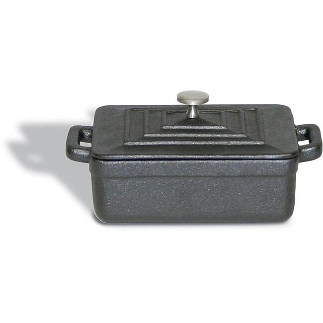 Paderno Black Rectangular Lidded Dutch Oven