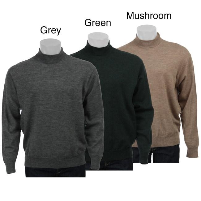 Belford Men's Merino Wool Mock Neck Sweater