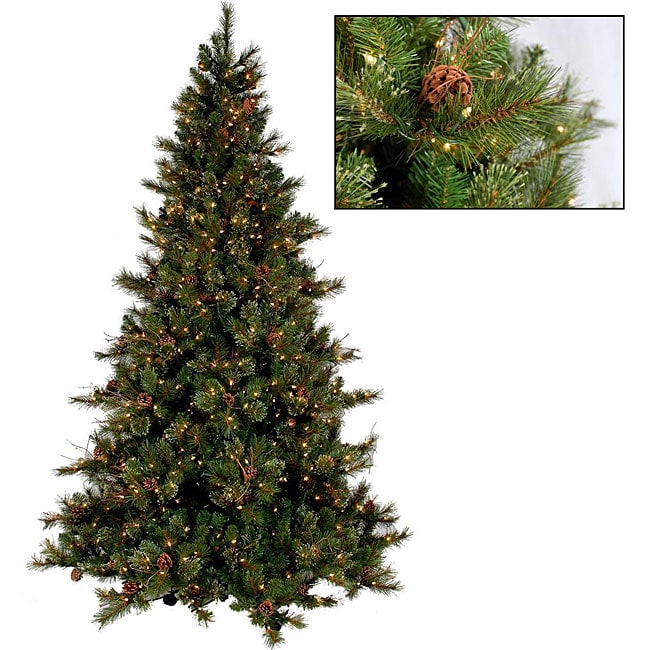 Faux Cashmere Pine 7.5-foot Premium Pre-lit Christmas Tree ...