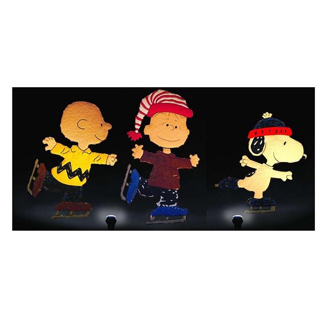 Peanuts Gang Skating-themed Holiday Lawn Decoration Set