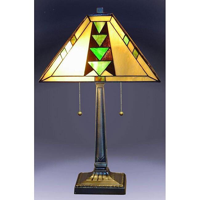Tiffany-style Navajo Mission Table Lamp
