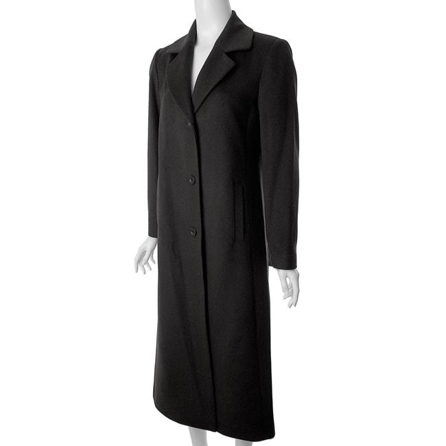 Jonathan Michael by Adi Women's Full-length Black Wool Coat