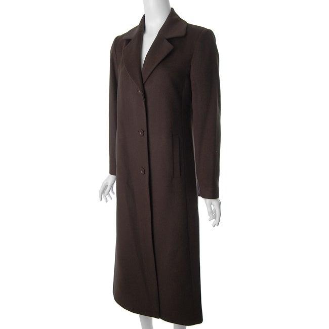 Jonathan Michael by Adi Women's Brown Wool Coat