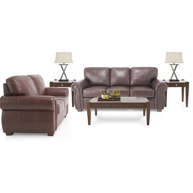 7 piece living room package leather sofa and leather for 7 piece living room furniture sets