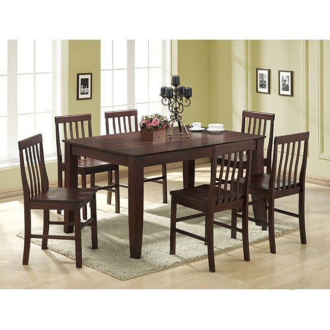 AT HOME by O Brown 7-piece Wood Dining Set at Sears.com