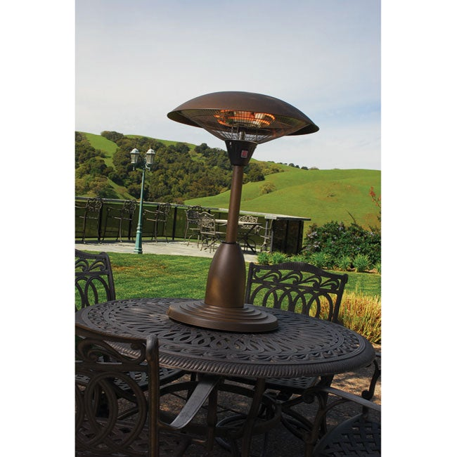 electric bronze table top patio heater - overstock u2122 shopping