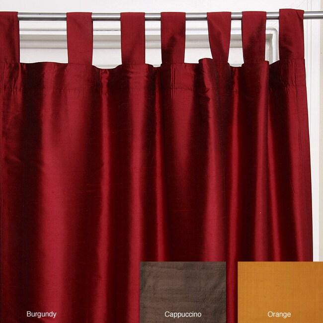 Pure Silk Dupioni 40x90 Curtain Panels (India) - 12349193 - Overstock ...