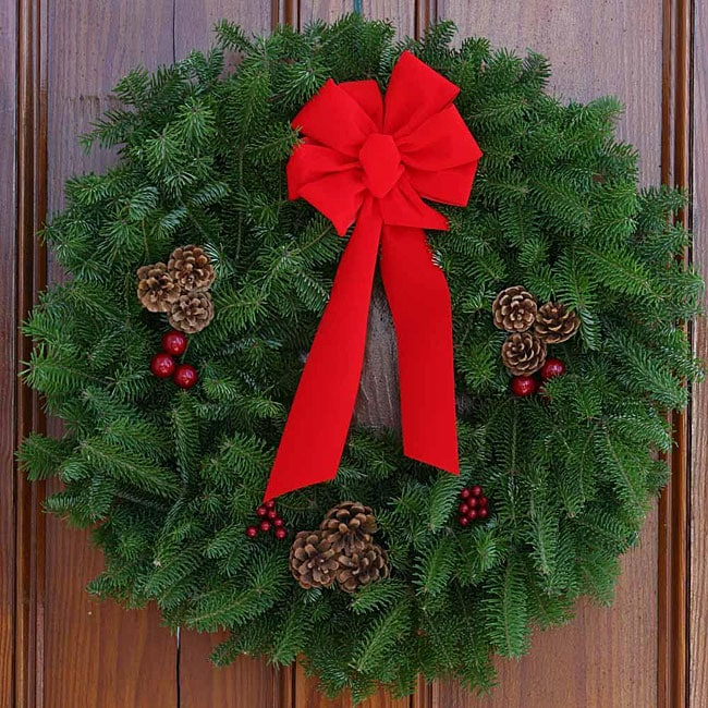 Fresh-Cut Classic Maine Balsam 30-inch Wreath