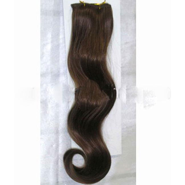 Merrylight Clip-in Body Wave 10-piece Chestnut Brown Hair Extensions