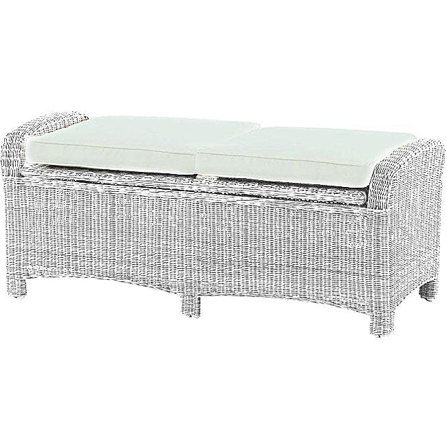 White Resin Wicker Storage Bench 12352798 Overstock