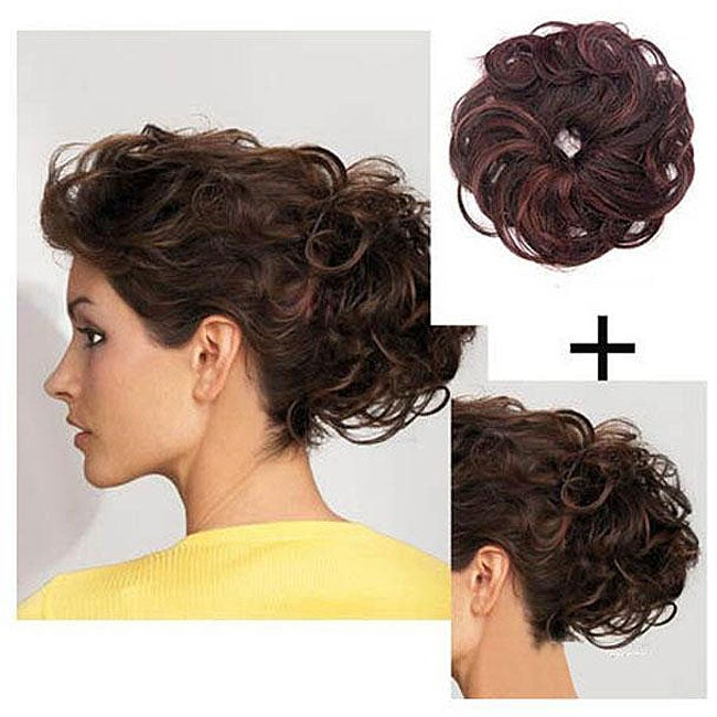 Merrylight Chestnut Wavy Put-on Hair Piece