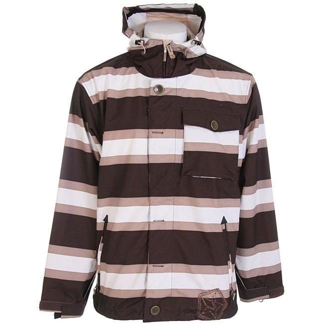 Sessions Flicker Men's Java Stripe Snowboard Jacket