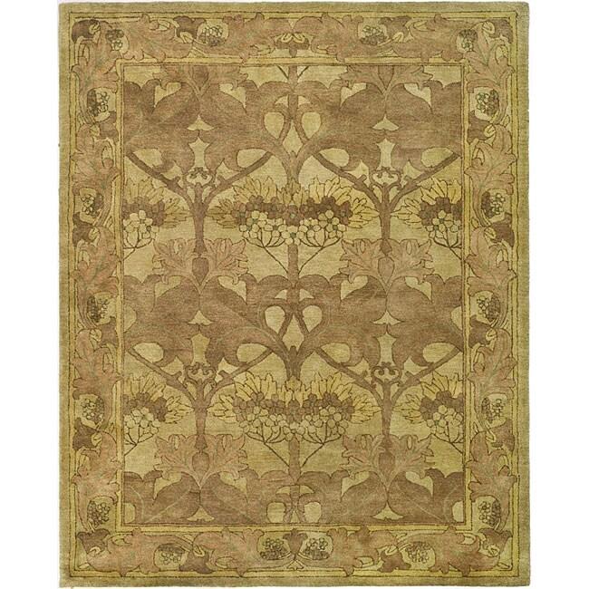 safavieh handmade arts and craft beige wool rug 6 39 x 9. Black Bedroom Furniture Sets. Home Design Ideas
