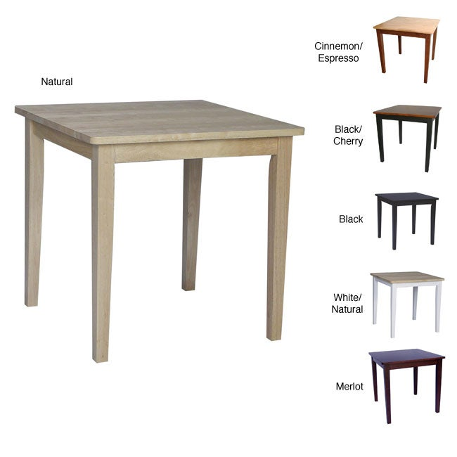 Solid Wood 30-inch Square Dining Table