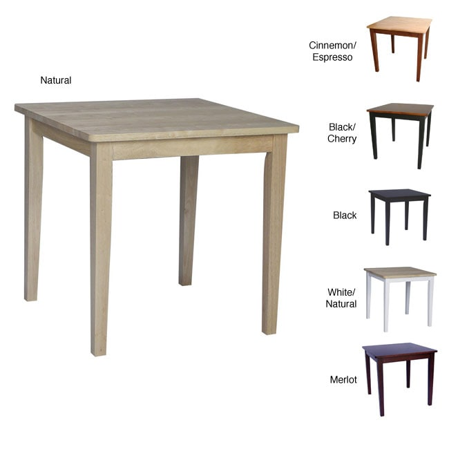 Solid Wood 30 inch Square Dining Table 12356987  : L12356987a from www.overstock.com size 650 x 650 jpeg 19kB