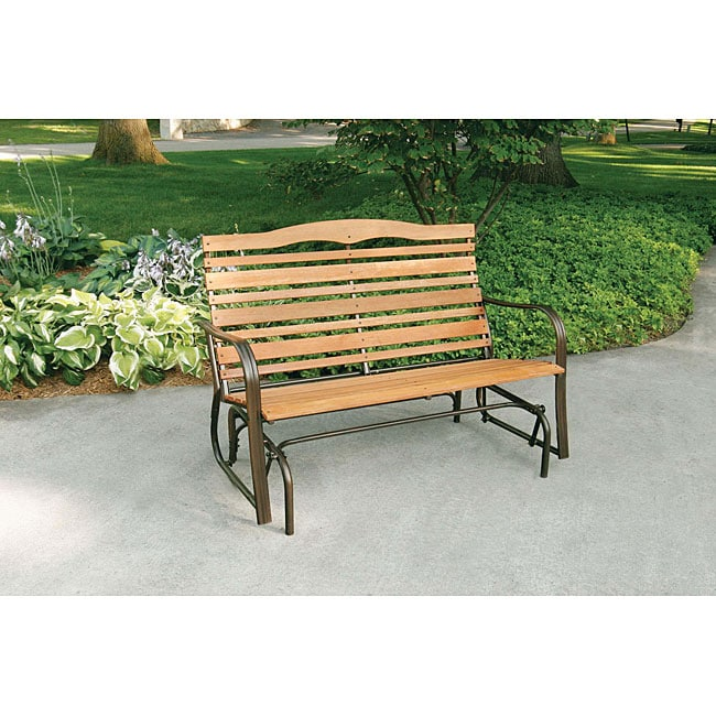 Woodlawn Double Glider Bench 12357138 Overstock Com
